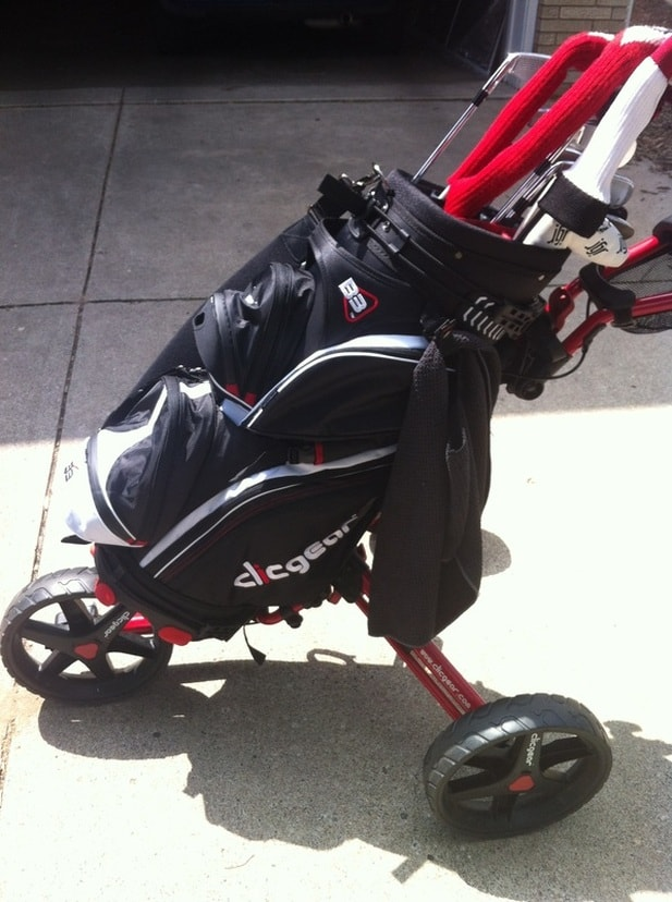 No Shifting Shimmying Or Adjusting Is Needed To Get This Bag Ride Perfectly On The Clicgear Pushcart
