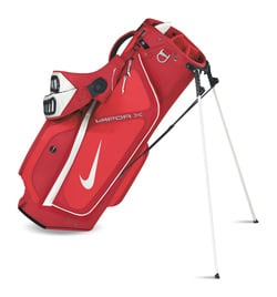 0bfe2bd0ce24 Review  Nike Vapor Stand Bag. Picture.  Creatively X-ing out some weight.  Carrying your golf clubs from hole to hole is a necessity of golf.