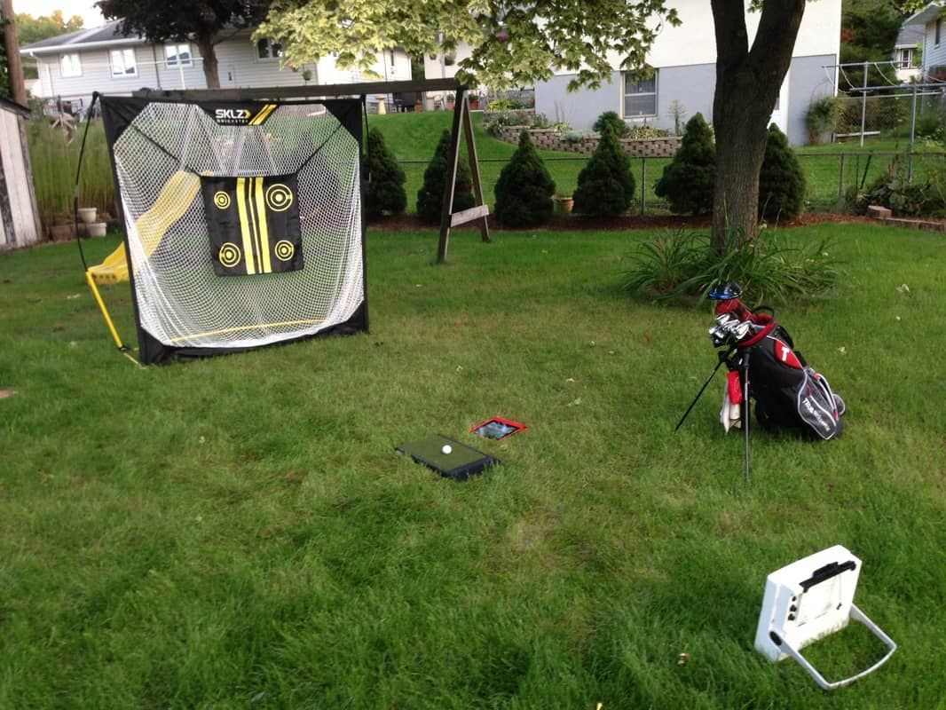 sklz quickster range net and glide pad igolfreviews