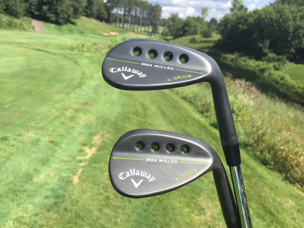 76e9b9bbb604 I went with a Callaway Mack Daddy 3 in a 54  and 58  set finished in matte  black finish with mid to high bounce for the soft conditions in MN.