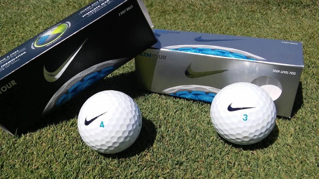 almohadilla sobre Máquina de escribir  Nike RZN Tour Golf Balls - IGolfReviews